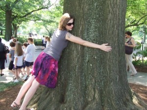 This is me hugging a tree that George Washington planted at Mount Vernon.